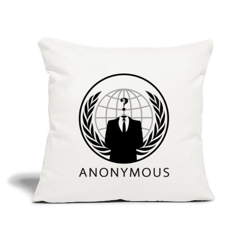 """Anonymous 1 - Black - Throw Pillow Cover 17.5"""" x 17.5"""""""