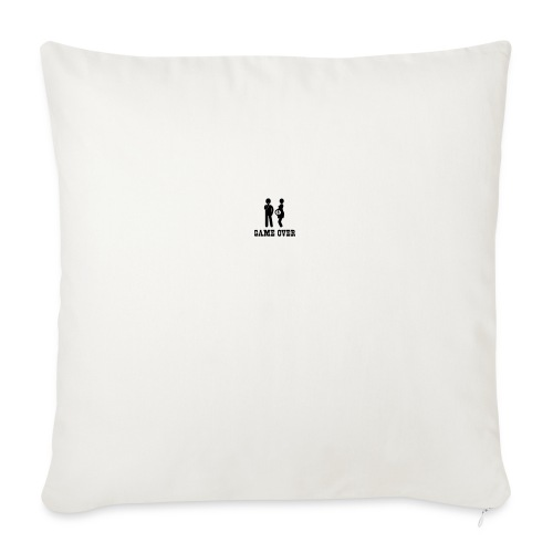 "couple game over - Throw Pillow Cover 18"" x 18"""