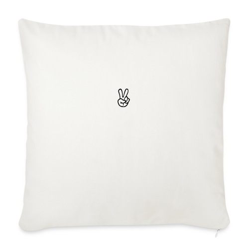 "Peace J - Throw Pillow Cover 17.5"" x 17.5"""