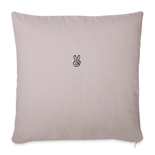 "Peace J - Throw Pillow Cover 18"" x 18"""