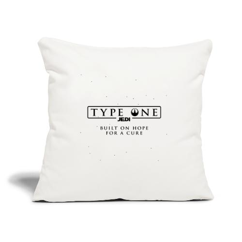 """Star Wars Type One Jedi Diabetic Support - Throw Pillow Cover 17.5"""" x 17.5"""""""