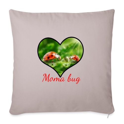 "moma bug - Throw Pillow Cover 18"" x 18"""
