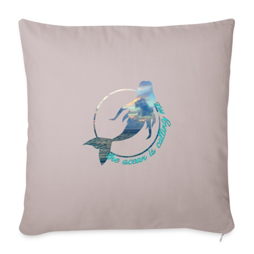 "ocean - Throw Pillow Cover 18"" x 18"""