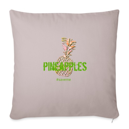 "pineapples - Throw Pillow Cover 18"" x 18"""