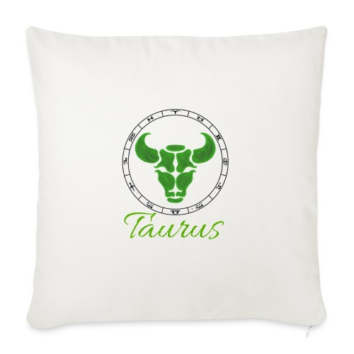 "taurus - Throw Pillow Cover 18"" x 18"""