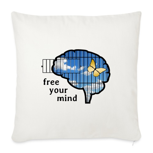 """free your mind - Throw Pillow Cover 17.5"""" x 17.5"""""""
