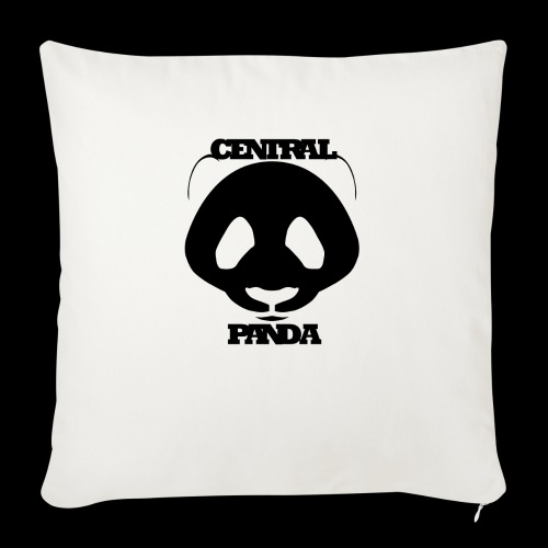 "Central Panda in White - Throw Pillow Cover 18"" x 18"""