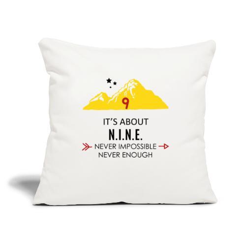 "Design Mountain NEW - Throw Pillow Cover 18"" x 18"""