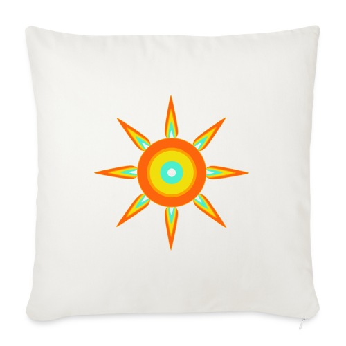 "Indian style star - Throw Pillow Cover 17.5"" x 17.5"""