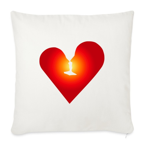 "Loving heart - Throw Pillow Cover 17.5"" x 17.5"""