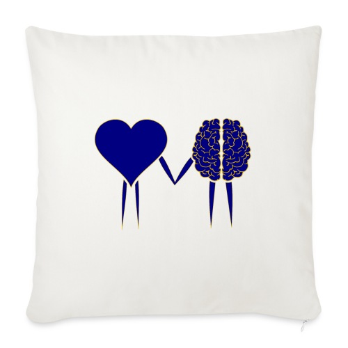 """heart and brain - Throw Pillow Cover 18"""" x 18"""""""