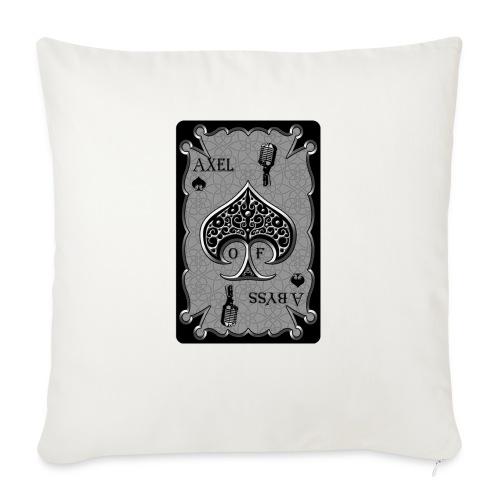 """Axelofabyss Spade Card - Throw Pillow Cover 18"""" x 18"""""""