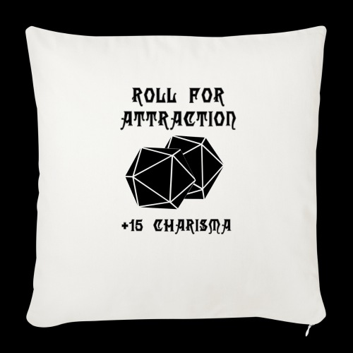 "Roll for Attraction - Throw Pillow Cover 18"" x 18"""