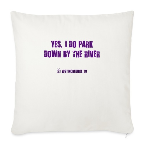 "Down by the river - Throw Pillow Cover 17.5"" x 17.5"""