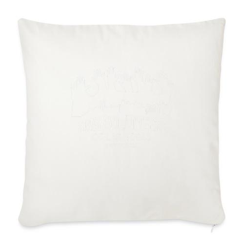 "White logo SVLV - Throw Pillow Cover 18"" x 18"""