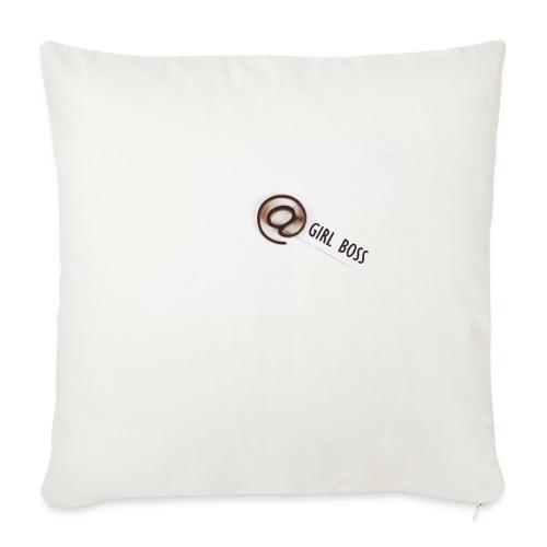 """Girl Boss! - Throw Pillow Cover 18"""" x 18"""""""