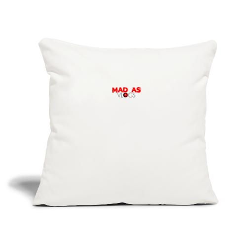 """Mad As Vlogs - Throw Pillow Cover 18"""" x 18"""""""