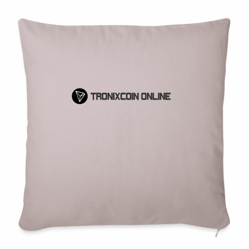 "Tronixcoin Online - Throw Pillow Cover 18"" x 18"""