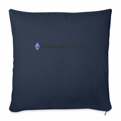 "Ethereum Online light darkpng - Throw Pillow Cover 18"" x 18"""
