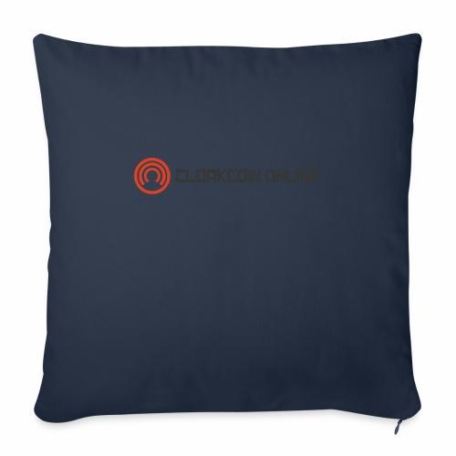 """Cloakcoin online dark - Throw Pillow Cover 18"""" x 18"""""""