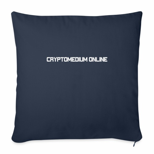 "cryptomedium logo light - Throw Pillow Cover 18"" x 18"""
