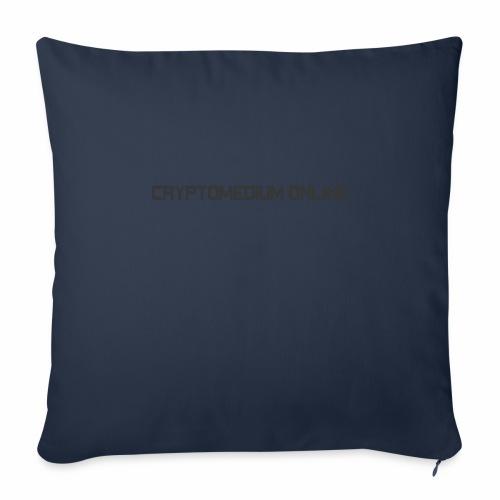 "Cryptomedium logo dark - Throw Pillow Cover 18"" x 18"""