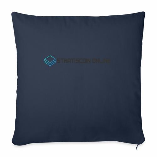 """stratiscoin online dark - Throw Pillow Cover 18"""" x 18"""""""