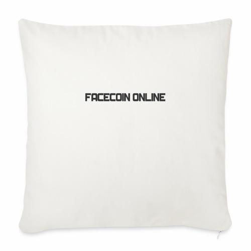 "facecoin online dark - Throw Pillow Cover 17.5"" x 17.5"""
