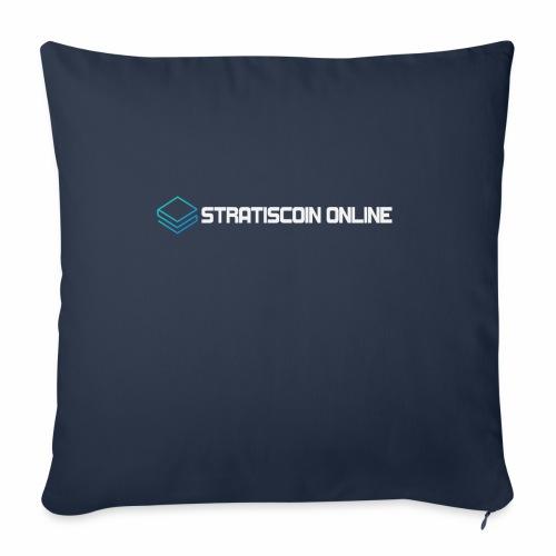 """stratiscoin online light - Throw Pillow Cover 18"""" x 18"""""""