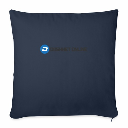 "dashnet online dark - Throw Pillow Cover 18"" x 18"""