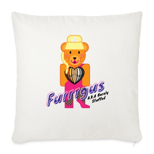 "Barely Stuffed - Throw Pillow Cover 17.5"" x 17.5"""
