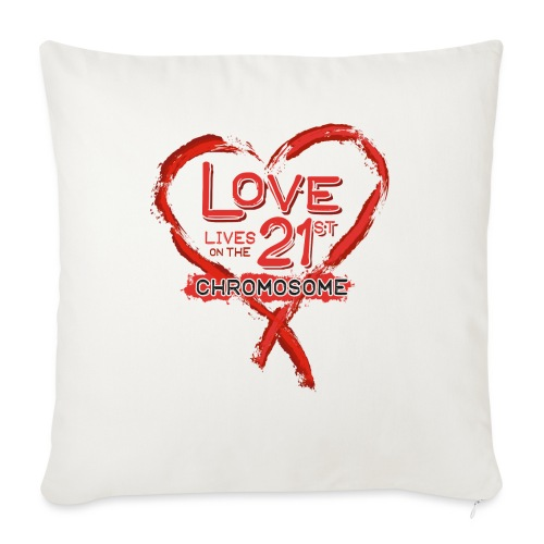 """Down Syndrome Love (Red) - Throw Pillow Cover 17.5"""" x 17.5"""""""