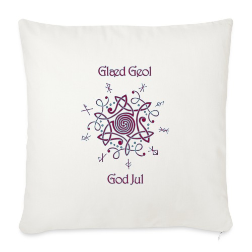 """Happy Yule - Throw Pillow Cover 18"""" x 18"""""""