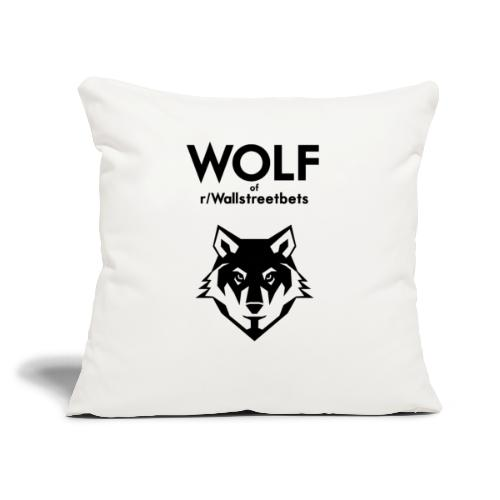 """Wolf of Wallstreetbets - Throw Pillow Cover 17.5"""" x 17.5"""""""