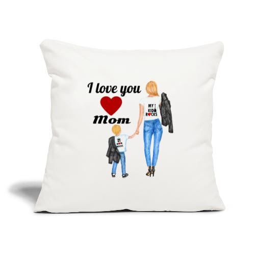 """Mother's day gift from daughter, Mother's Day Gift - Throw Pillow Cover 17.5"""" x 17.5"""""""
