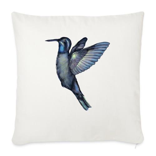 "Hummingbird in flight - Throw Pillow Cover 17.5"" x 17.5"""