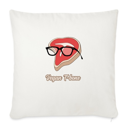 "Vegan T bone - Throw Pillow Cover 18"" x 18"""