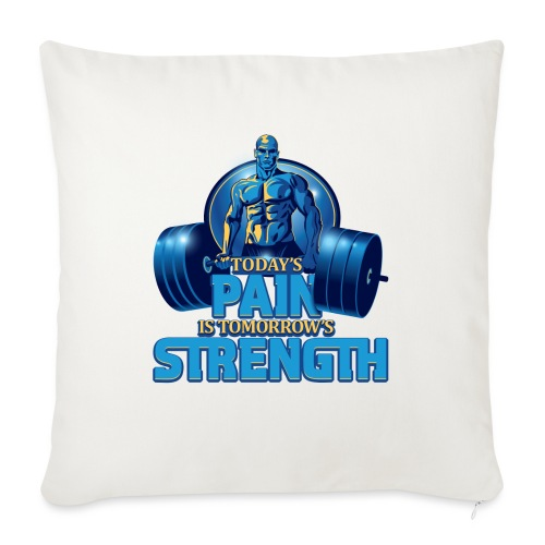 "Heavy Lifting Man - Throw Pillow Cover 18"" x 18"""
