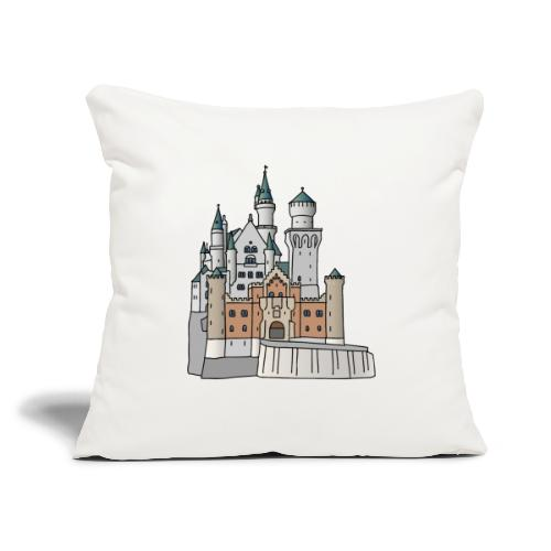 "Neuschwanstein Castle, Bavaria - Throw Pillow Cover 17.5"" x 17.5"""