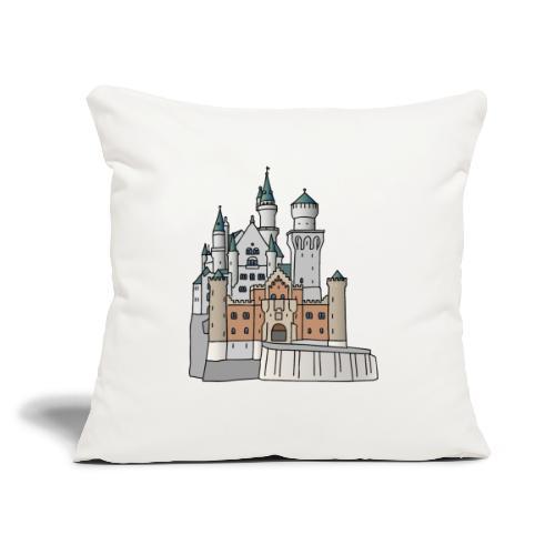 "Neuschwanstein Castle, Bavaria - Throw Pillow Cover 17.5"" x 17.5"""