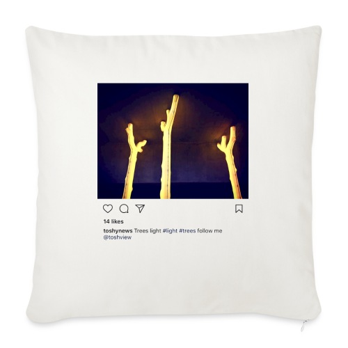 "TREE LIGHT - Throw Pillow Cover 17.5"" x 17.5"""