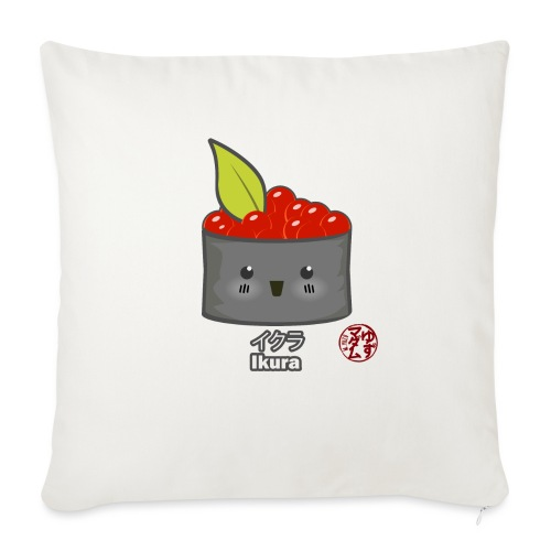 "Ikura Maki - Throw Pillow Cover 18"" x 18"""