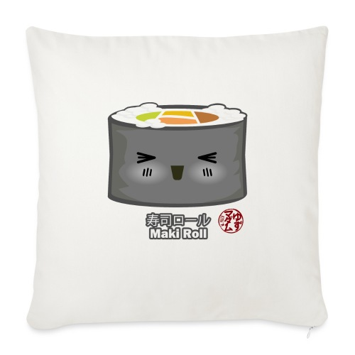 "Maki Roll - Throw Pillow Cover 18"" x 18"""
