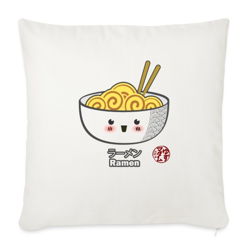 "Ramen - Throw Pillow Cover 18"" x 18"""