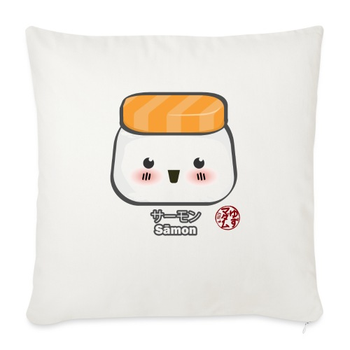 "Samon Nigiri - Throw Pillow Cover 18"" x 18"""