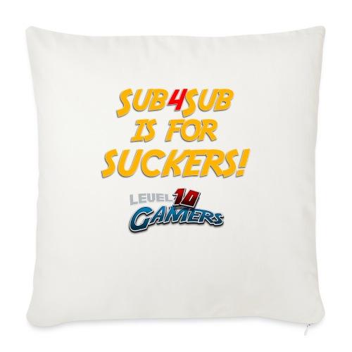 "Anti Sub4Sub - Throw Pillow Cover 17.5"" x 17.5"""