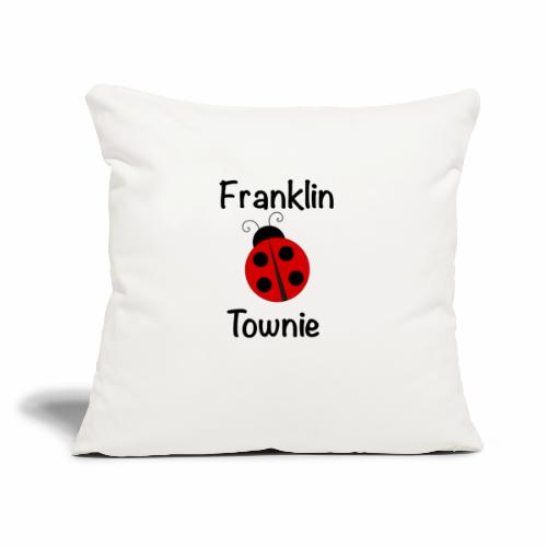 "Franklin Townie Ladybug - Throw Pillow Cover 18"" x 18"""