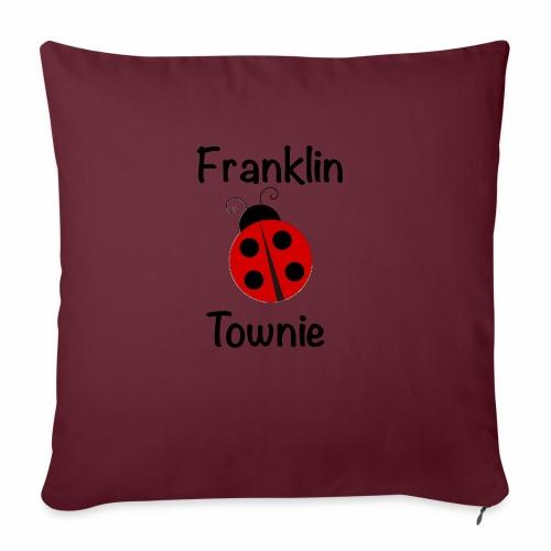 "Franklin Townie Ladybug - Throw Pillow Cover 17.5"" x 17.5"""
