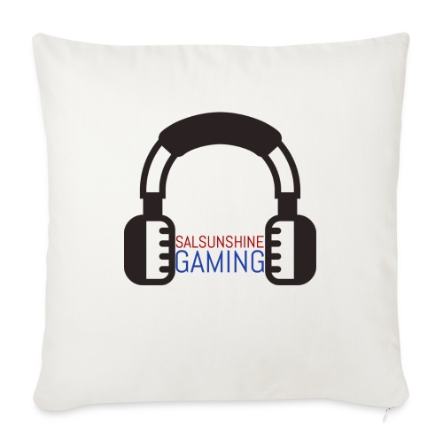 "SALSUNSHINE GAMING LOGO - Throw Pillow Cover 18"" x 18"""