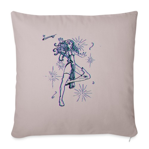 "Sparkle MAGIC - color effect - Throw Pillow Cover 18"" x 18"""